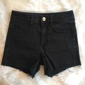 American Eagle Outfitters Black Hi Rise Shortie
